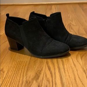 black Franco Sarto booties, size 7.5